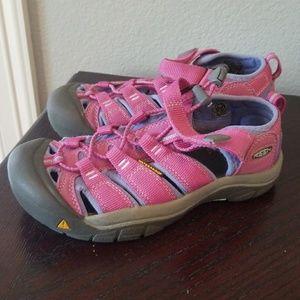 Keen Youth Girls 3 Pink Waterproof Sandals
